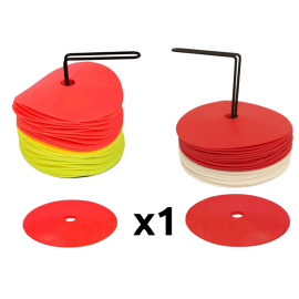 Pack of 24 flat rubber cones zastor - Padel tennis Shop
