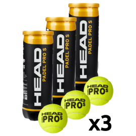 Head Padel Pro S Balls (Pack x 3 boat) - Padel tennis Shop