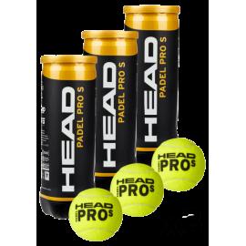 Head Padel Pro S Balls (Pack x 3 boat)