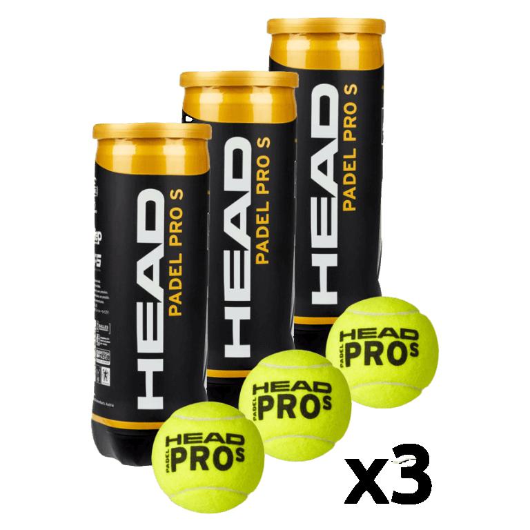 Head Padel Pro S Balls (Pack x 3 boat) - Padel tennis Shop