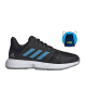 Adidas CourtJam Bounce shoes Black and blue 2021 - Padel tennis Shop